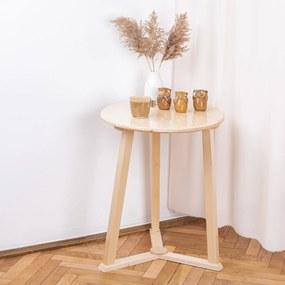 Masuta de cafea rotunda, lemn masiv de pin