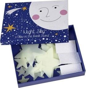 Set 30 decoraţiuni steluţe fosforescente Rex London