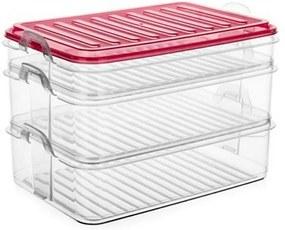 Set caserole de plastic Banquet EASY CLICK 3 buc