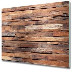 Tocator din sticla de perete din lemn