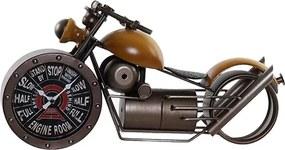 Ceas Motocicleta din metal galben 50x25 cm