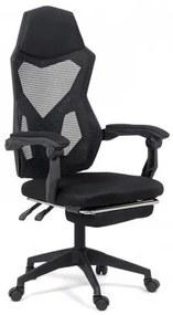 Scaun ergonomic cu suport de picioare OFF 424 negru