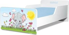 Pat copii Elefantel 2-8 ani cu saltea cadou