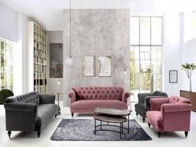Canapea 3 locuri Noblesse 230 cm, 104 cm, 76 cm, Stofa, La comanda, orice culoare.