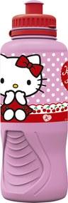 Sticla de plastic, model Hello Kitty, 400 ml