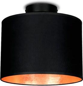 Plafonieră Sotto Luce MIKA, Ø 25 cm, negru/arămiu