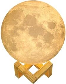 Lampa Veghe Luna Moon imprimata 3D, Lumina Ambientala Multicolora cu LED, Well