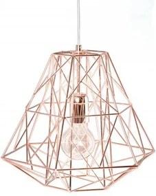 Lustra roz auriu din metal Cage S Invicta Interior