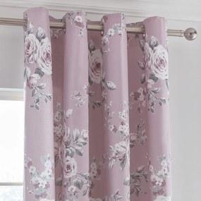 Set 2 draperii Catherine Lansfield Canterbury, 168 x 183 cm, roz
