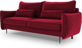 Canapea extensibilă cu spațiu de depozitare Cosmopolitan Design Vermont, roșu