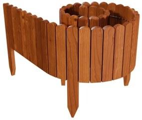Gard de gradina decorativ din lemn, maro, 200x30 cm