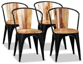 274910 vidaXL Scaune de bucătărie, 4 buc., lemn masiv acacia
