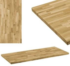 Blat masă, lemn masiv de stejar, dreptunghiular, 44mm 120x60cm