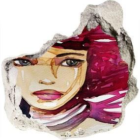 Fototapet 3D gaură în perete Abstracție femeie