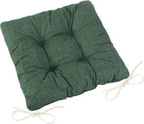 Pernă de scaun matlasată Adéla Uni verde închis, 40 x 40 cm