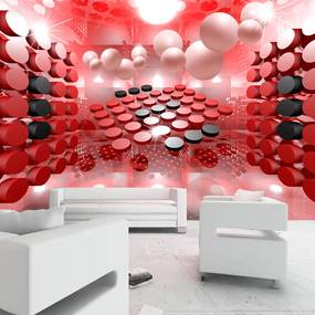 Fototapet Bimago - Playing in red and black + Adeziv gratuit 350x245 cm