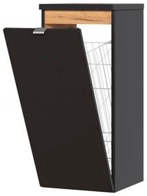 Corp suspendat cu cos de rufe Calatis Cosmos Negru, 35 m, 35 cm, 80 cm