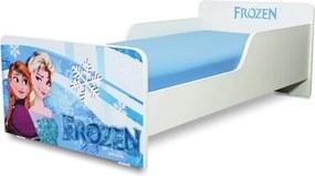 Pat copii  Frozen 2-8 ani cu saltea cadou