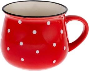 Cană din ceramică cu buline Dakls Premio, roșu, 770 ml