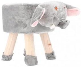 Scaun taburet pentru copii, model elefant 28x30 cm