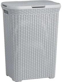 Cos de rufe, 60 L, 44x34x61 cm, gri, CURVER