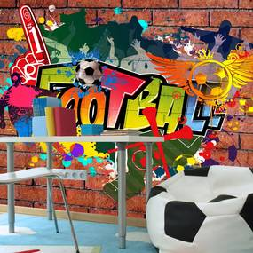 Fototapet Bimago - Football fans! + Adeziv gratuit 200x140 cm