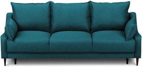 Canapea extensibilă cu spațiu pentru depozitare Mazzini Sofas Ancolie, turcoaz, 215 cm