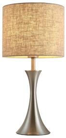 HOMCOM Lampa de Masa din Metal si Tesatura, Iluminat Interior, Soclu E27