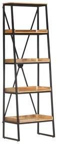 320221 vidaXL Bibliotecă cu 5 rafturi, 60x39x180 cm, lemn masiv mango
