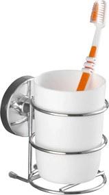 Suport autoadeziv pentru periuțe de dinți Wenko Vacuum-Loc, 11,5 x 7,5 cm