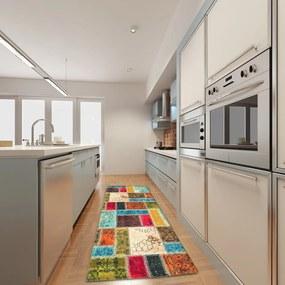 Covor pentru bucătărie foarte rezistent Floorita Patchwork, 60 x 140 cm