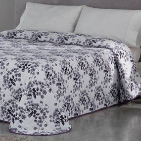 Cuvertură de pat CARLOTA, mov pat dublu