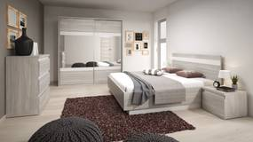 Set dormitor 5 piese din pal MONTREAL WHITE