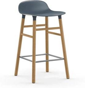 Scaun de Bar Form Albastru cu Picioare din Stejar NORMANN COPENHAGEN - Plastic Albastru Inaltime (77cm) x Latime (43cm) x Dia (42.5cm)