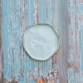 Farfurie Handmade Manifest Verde Pastel 12cm