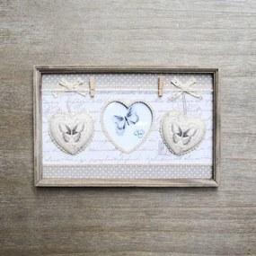 Suport pentru fotografii din lemn maro 34x2.5x22 cm