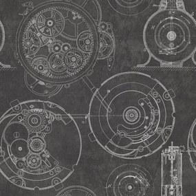 MINDTHEGAP Tapet - Horlogerie Anthracite