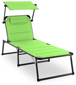 AMALFI Juicy Lime, șezlong 70X37X200 cm, culoare verde, parasolar