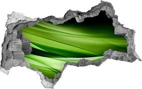 Autocolant un zid spart cu priveliște Fundal valuri verzi