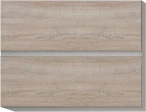 Dulap superior cu 2 uşi orizontale, stejar sonoma, LINE G80 U