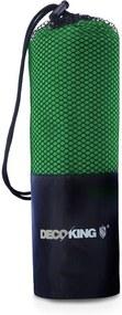 Prosop cu uscare rapidă DecoKing EKEA, 40 x 80 cm, verde