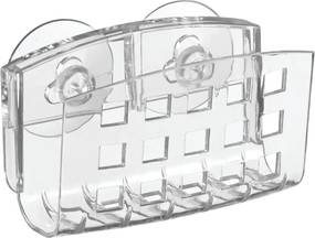 Suport transparent cu ventuze iDesign, 5 x 14 cm
