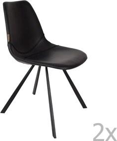 Set 2 scaune Dutchbone Franky, negru