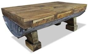 244500 vidaXL Măsuță de cafea, lemn masiv reciclat, 90x50x35 cm