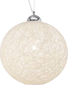 Suspensie Ideal Lux Basket SP1 D30, 1x60W, 30x40-150cm, alb