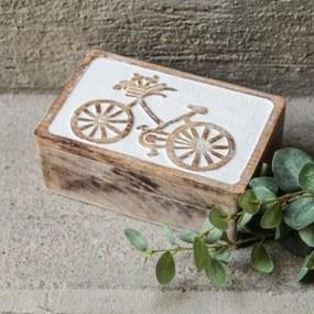 Cutie Bicycle din lemn 20x13 cm