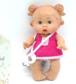 Bebelus vanilat Adela cu rochita verde Nines