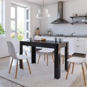 800439 vidaXL Masă de bucătărie, negru extralucios, 120 x 60 x 76 cm, PAL
