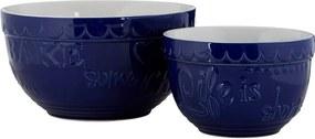 Set 2 boluri din gresie ceramică Premier Housewares, albastru