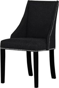 Scaun din lemn de fag Ted Lapidus Maison Patchouli cu picioare negre, negru